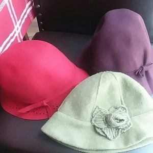 Women cloche bucket hat